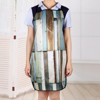 Wood Flooring Print Waterproof Apron - COLORMIX COLORMIX