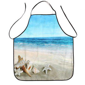 Beach Conch Print Waterproof Kitchen Apron