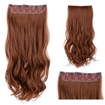 Long Wavy Clip In Synthetic Hair Extension - LIGHT BROWN LIGHT BROWN