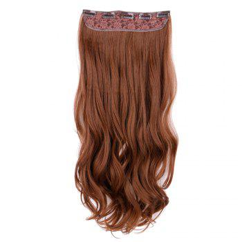 Long Wavy Clip In Synthetic Hair Extension - LIGHT BROWN