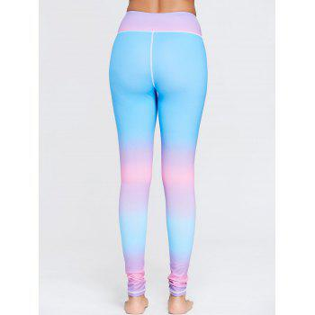 Rainbow Color Ombre Gym Leggings - M M
