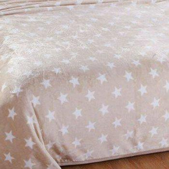 Bedroom Star Print Soft Bed Throw Blanket - LIGHT BROWN DOUBLE