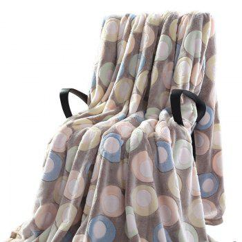 Round Printed Bedroom Soft Throw Blanket - DOUBLE DOUBLE
