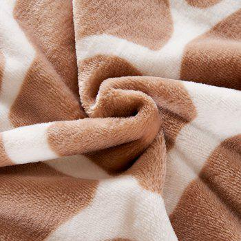 Giraffe Grain Printed Bedroom Bed Throw Blanket - DOUBLE DOUBLE
