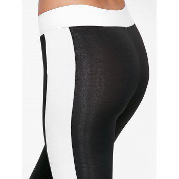 Collants de sport à deux tons - Noir XL