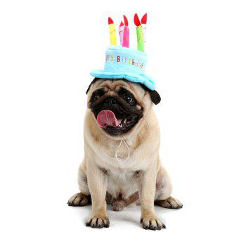 Candle Cake Shape Pet Dog Birthday Hat