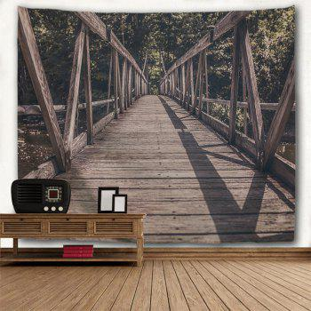 Wooden Hanging Bridge Print Wall Tapestry - DUN W79 INCH * L71 INCH