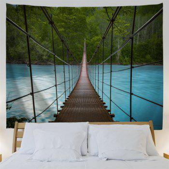 Suspension Bridge Scenery Wall Art Tapestry - COLORMIX W59 INCH * L59 INCH