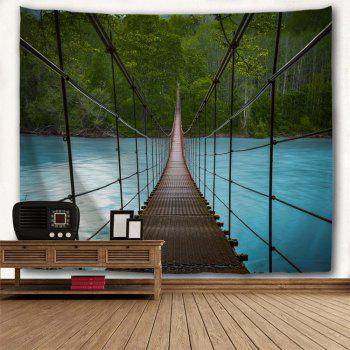 Suspension Bridge Scenery Wall Art Tapestry - COLORMIX W91 INCH * L71 INCH