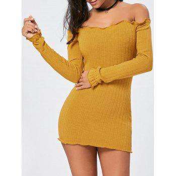 Off The Shoulder Mini Bodycon Sweater Dress