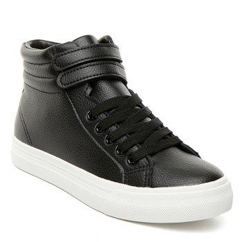 High Top Stitching Athletic Shoes