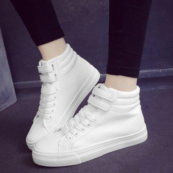 High Top Stitching Athletic Shoes - 40 40
