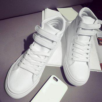 High Top Stitching Athletic Shoes - 37 37
