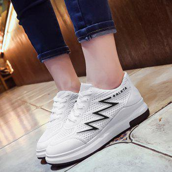 Breathable Faux Leather Panel Athletic Shoes - 40 40