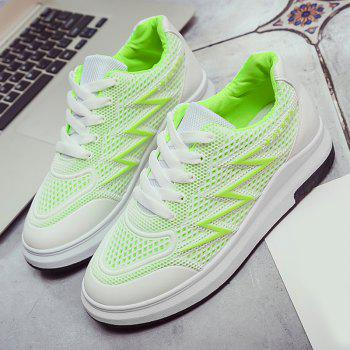 Breathable Faux Leather Panel Athletic Shoes - 39 39
