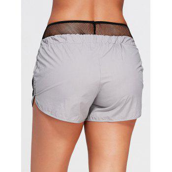 Running Shorts with Fishnet Pocket - GRAY S