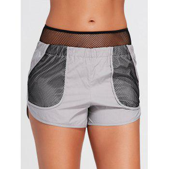 Running Shorts with Fishnet Pocket - M M