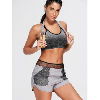 Running Shorts with Fishnet Pocket - L L