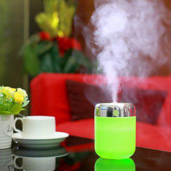 Oblique Hole Humidifier With Color Changing LED Light - GREEN GREEN