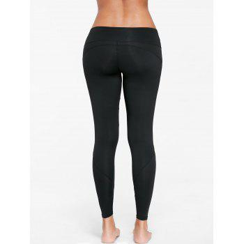 Mesh Insert Skinny Gym Leggings - S S