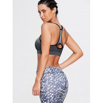 Ombre Adjustable Padded Racerback Sports Bra - L L