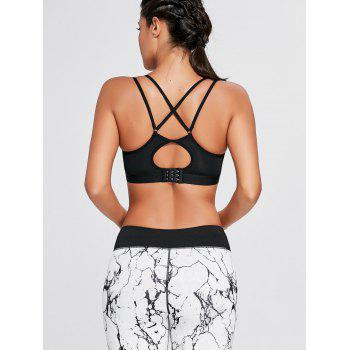 Cutout Criss Cross Padded Sports Bra - BLACK S