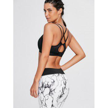 Cutout Criss Cross Padded Sports Bra - M M