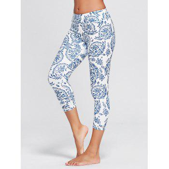 Paisley High Waist Stretch Yoga Leggings