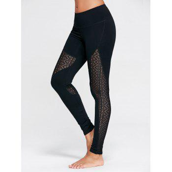 Zigzag Sheer Mesh Workout Tights