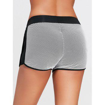 Fishnet Mesh Running Shorts with Pocket - S S
