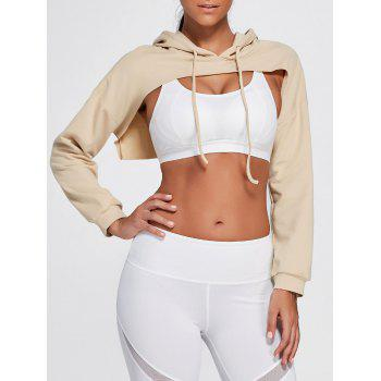 Long Sleeve Open Front Sports Cropped Hoodie