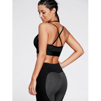 Strappy Cross Back Plunge Sports Bra - XL XL