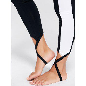 Leggings Stirrup Sports Color Block - Noir XS