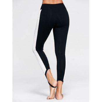 Leggings Stirrup Sports Color Block - Noir S