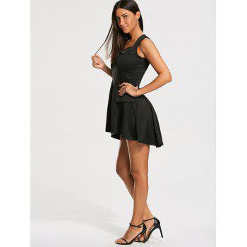 Sleeveless Mini Zip Up Dress - L L