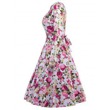 Floral Vintage Fit and Flare Dress - XL XL