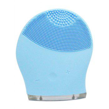 Silicone Charging Massage Facial Cleansing Brush Device - AZURE AZURE