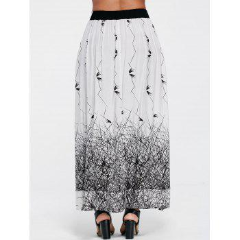 Monochrome Ruffle Skirt Pants - L L