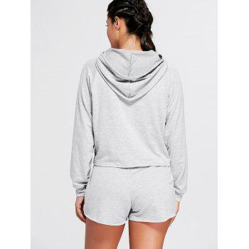 Sports Hoodie and  Drawstring Shorts - S S