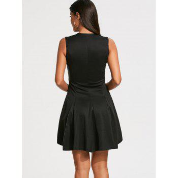 Sleeveless Mini Zip Up Dress - S S