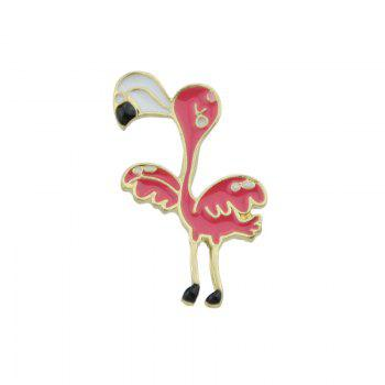 Bird Tiny Funny Brooch - RED RED