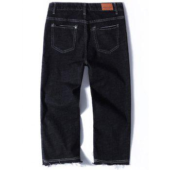 Straight Nine Minutes of Jeans - BLACK BLACK