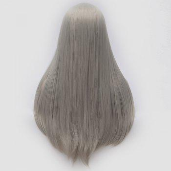 Long Center Part Straight Tail Adduction Cosplay Wig - FROST