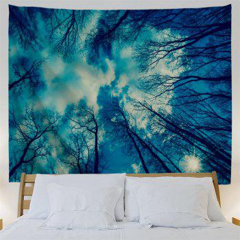 Grove Sky Print Wall Decoration Tapestry - BLUE W79 INCH * L71 INCH