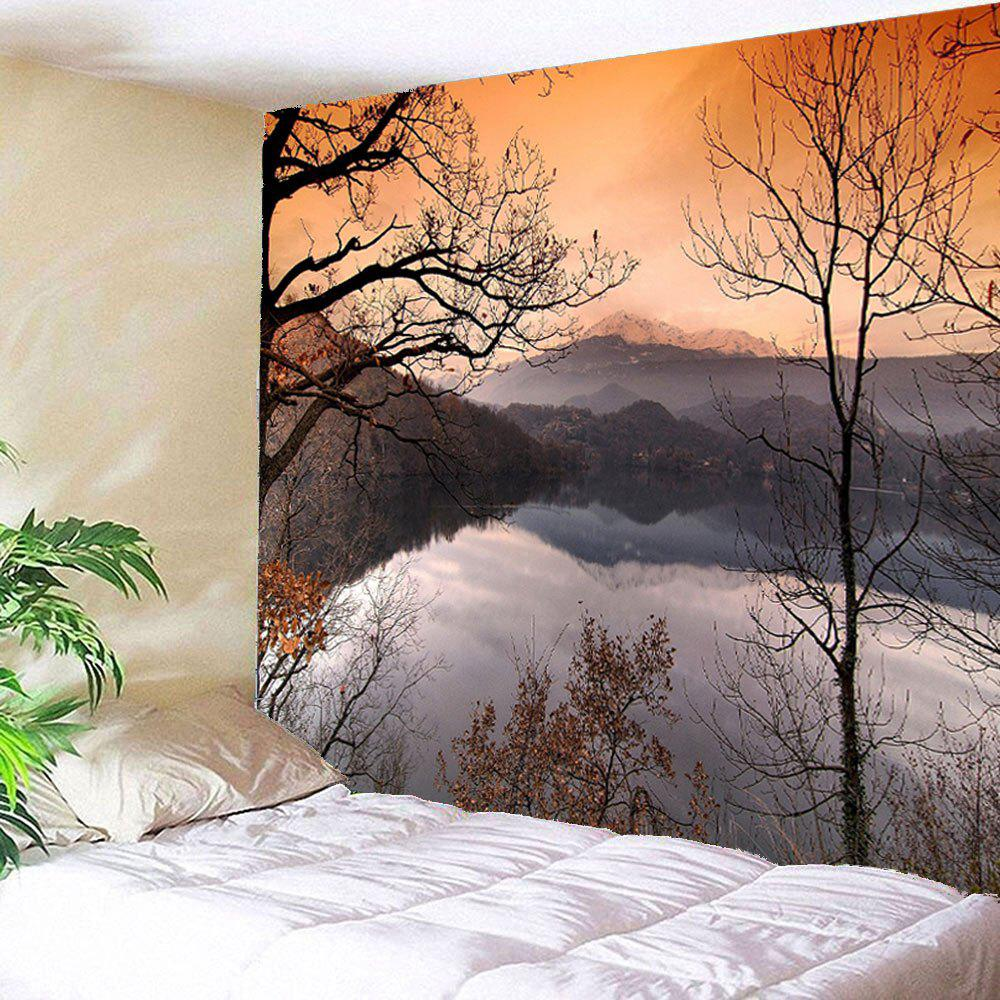 Landscape Lake Printed Waterproof Wall Hanging Tapestry knife lake
