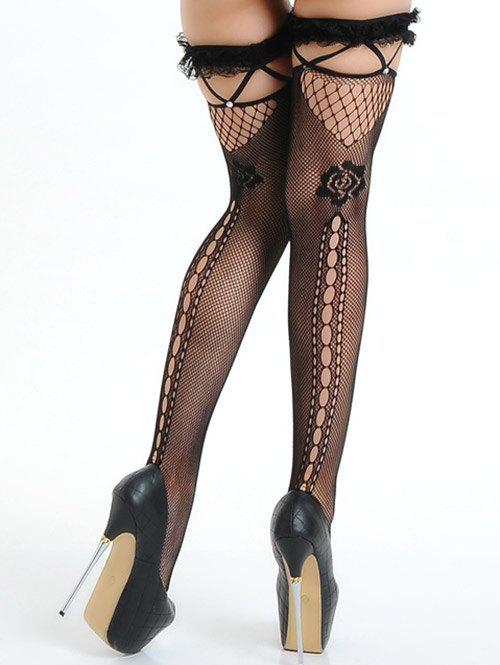 Ripped Fishnet Stocking - BLACK ONE SIZE