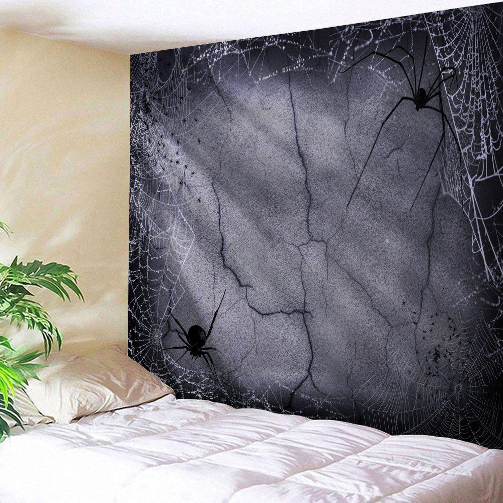 Halloween Spider Web Print Tapestry Wall Hanging Art halloween spook house print wall tapestry