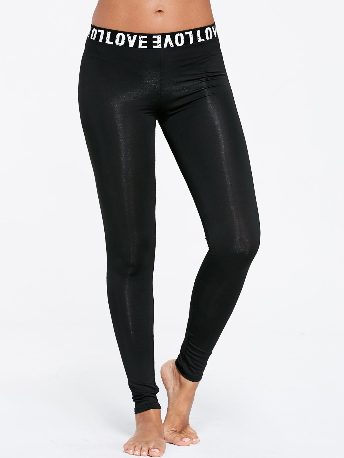 Love Trim Sports Tall Leggings - BLACK S
