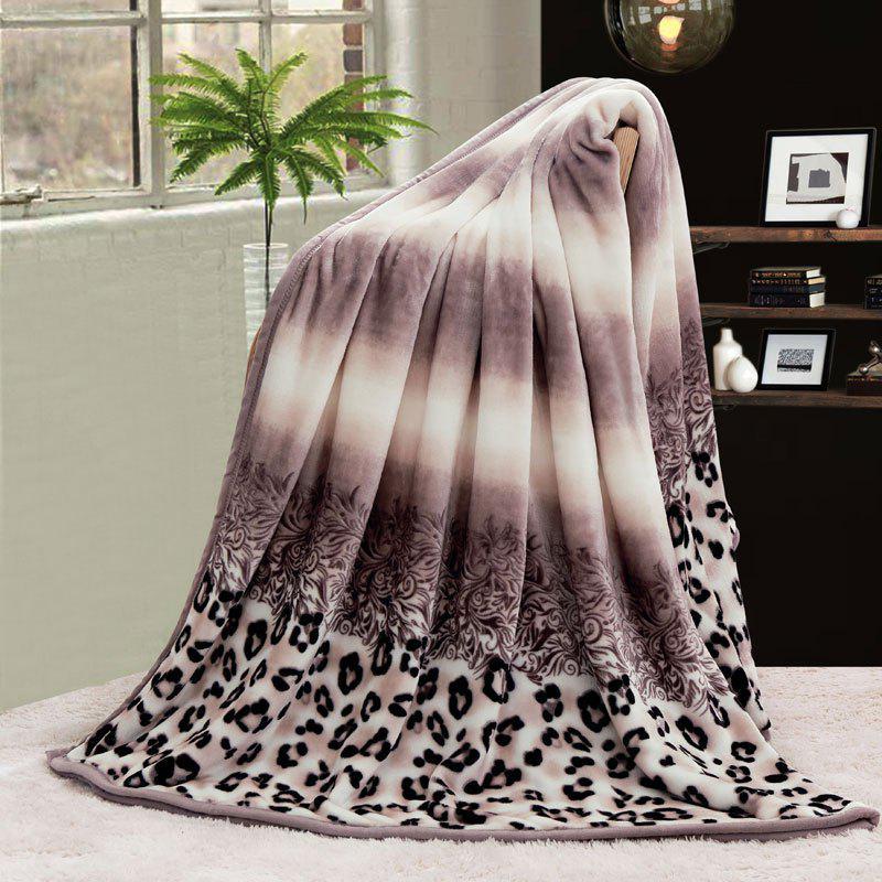 Leopard Printed Bedroom Throw Blanket - COLORMIX EURO KING