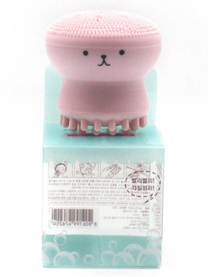Double Head Silicone Octopus Face Cleansing Brush - PINK